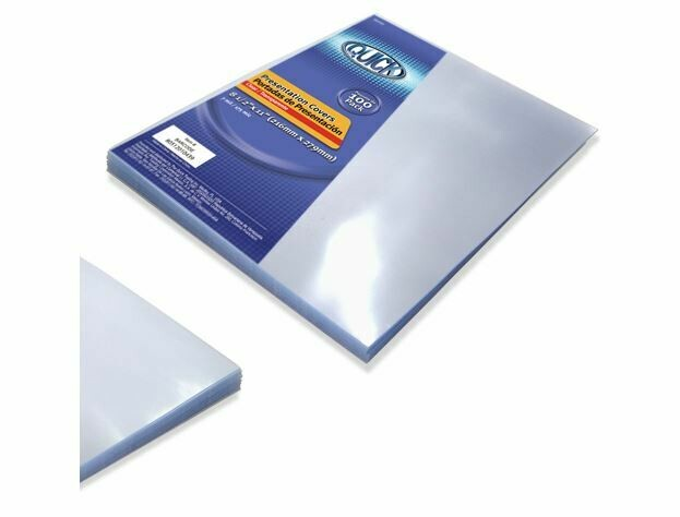 Quick / Presentation Cover, Clear, Letter Size, 7mil, Box-100