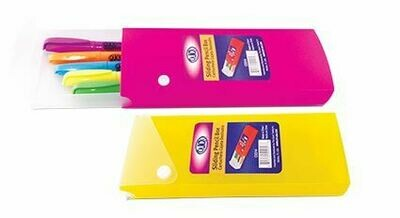 Quick / Pencil Case Slider Open, Plastic, Assorted Colors