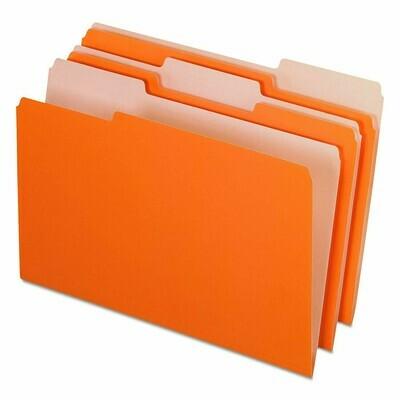 Pendaflex /  File Folders, Legal Size, 1/3 Cut Tabs, Pk-100