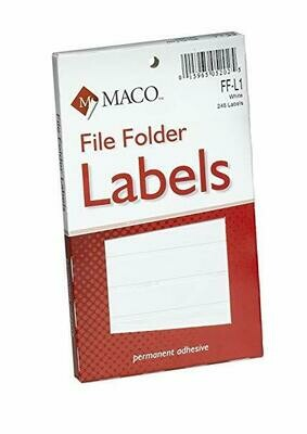 Maco/ File Folder Labels