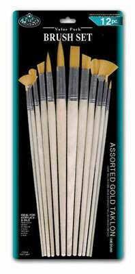 ROYAL BRUSH Brush set Gold Taklon (pk-12)