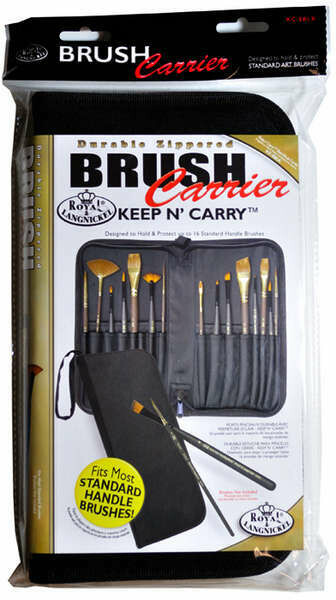 Empty Zipper Brush Carrier