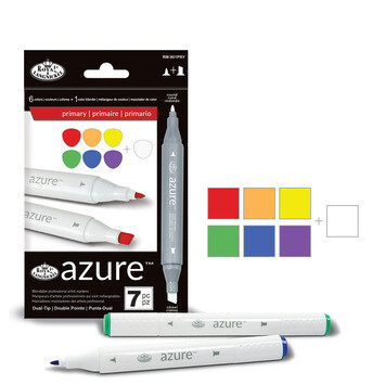 ROYAL BRUSH Art Markers Primary (pk-7)