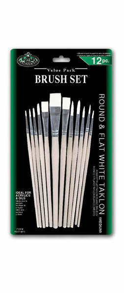 ROYAL BRUSH Brush White Taklon Set-12