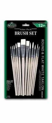 ROYAL BRUSH Brush White Taklon Set-12