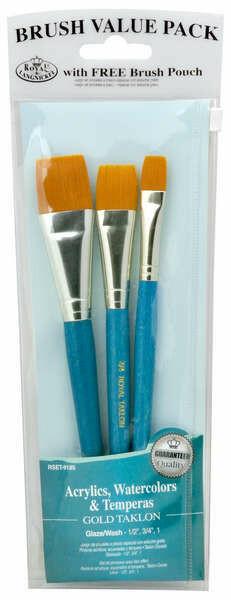"""ROYAL BRUSH Brush Set 1"""", 1/2"""", 3/4"""""""