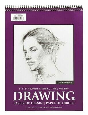 JACK RICHERSON Drawing Pad 9x12 #75 [EACH]