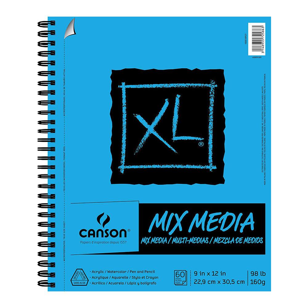 "Pad Mix Media 9x12"" 98# 60-Sht"