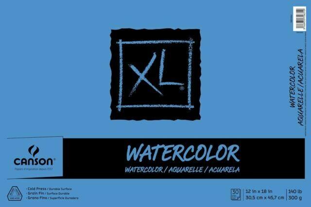 "CANSON Pad Watercolor 12x18"" 30-sh [EACH]"
