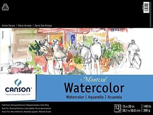 "CANSON Pad Watercolor 15x20"" 12-sh [EACH]"