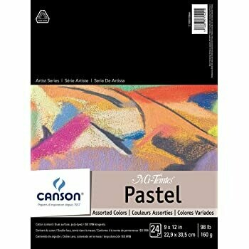 """CANSON Pad Mi-Teintes 9 x 12"""" Assorted  Colors [EACH]"""