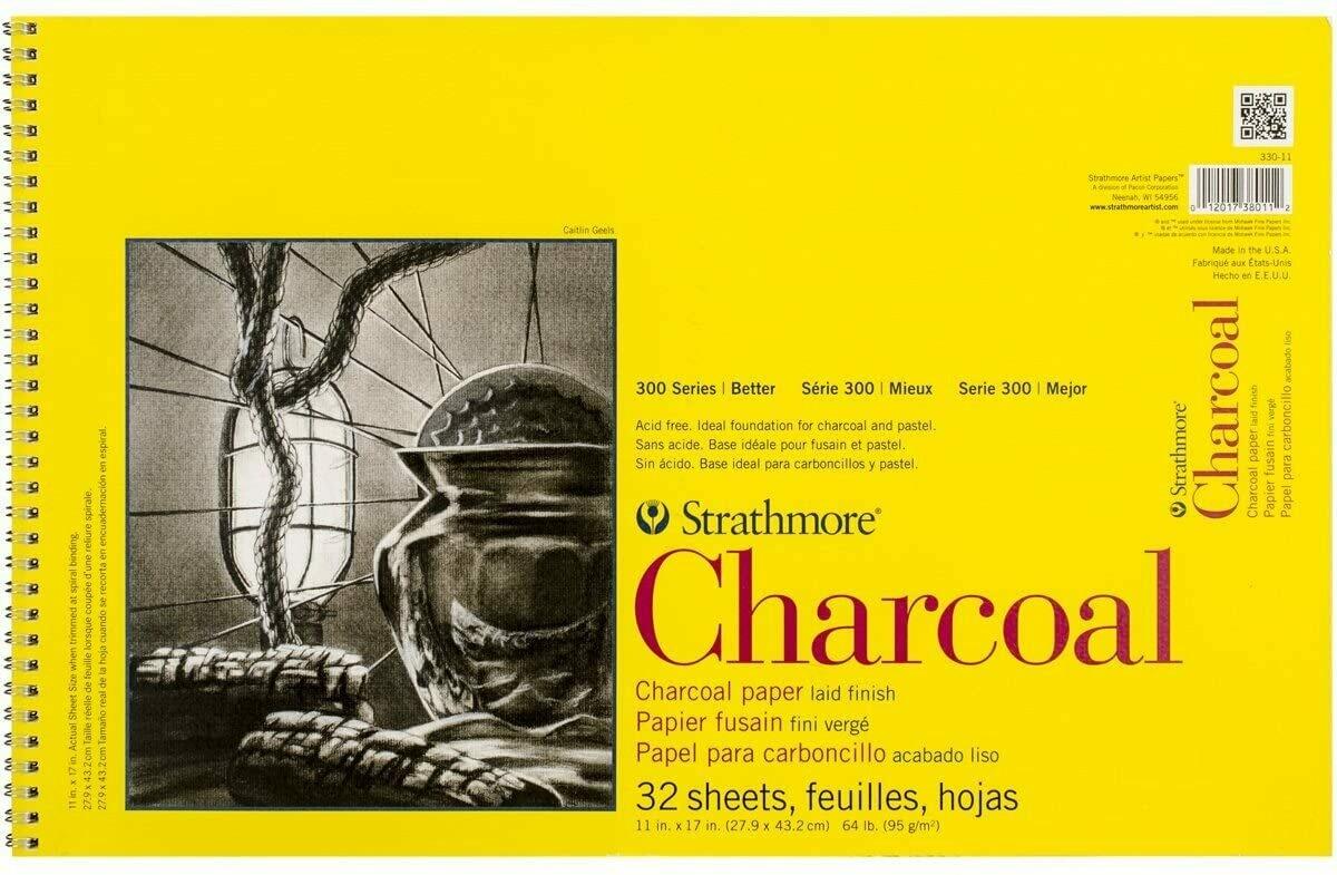 "STRATHMORE Pad Charcoal 11x17"" 32-sh 64lb [EACH]"