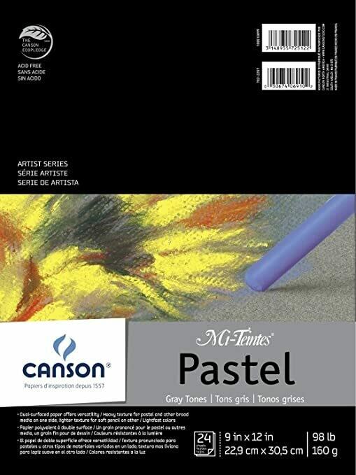 "CANSON Pad Mi-Teintes 9 x 12"" Gray [EACH]"