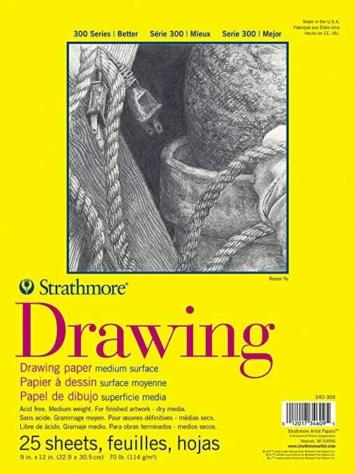 "STRATHMORE  Pad Drawing 9x12"" 25-sh 70# [EACH]"