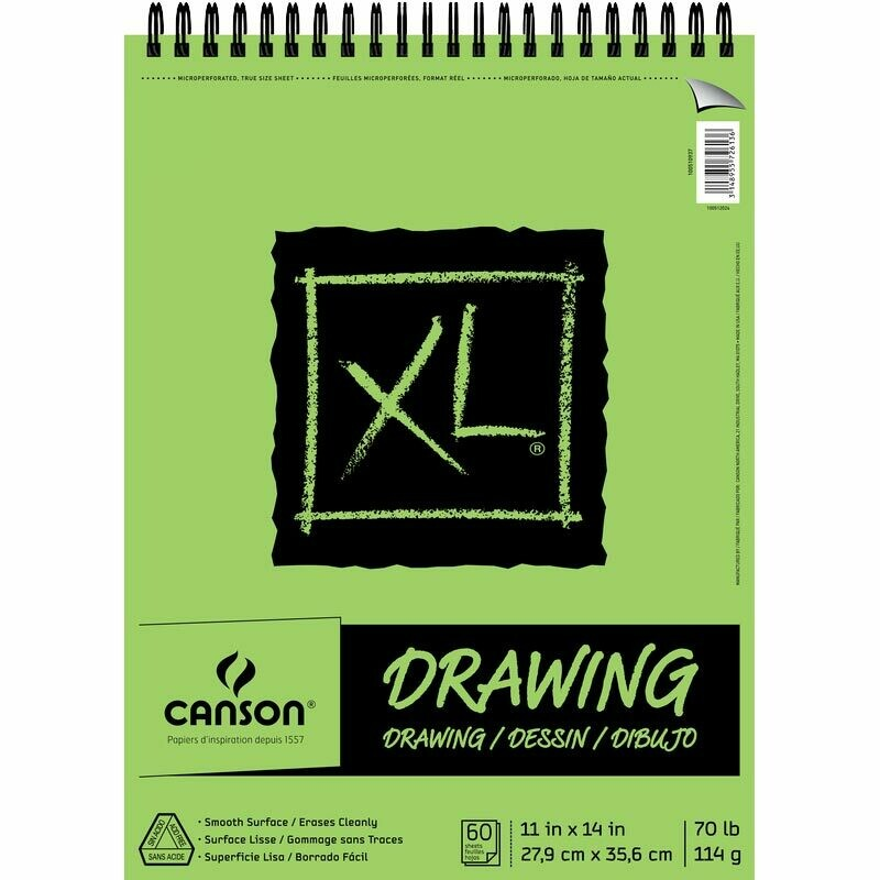 """CANSON Pad Drawing 11x14"""" 70# 60-Sh [EACH]"""
