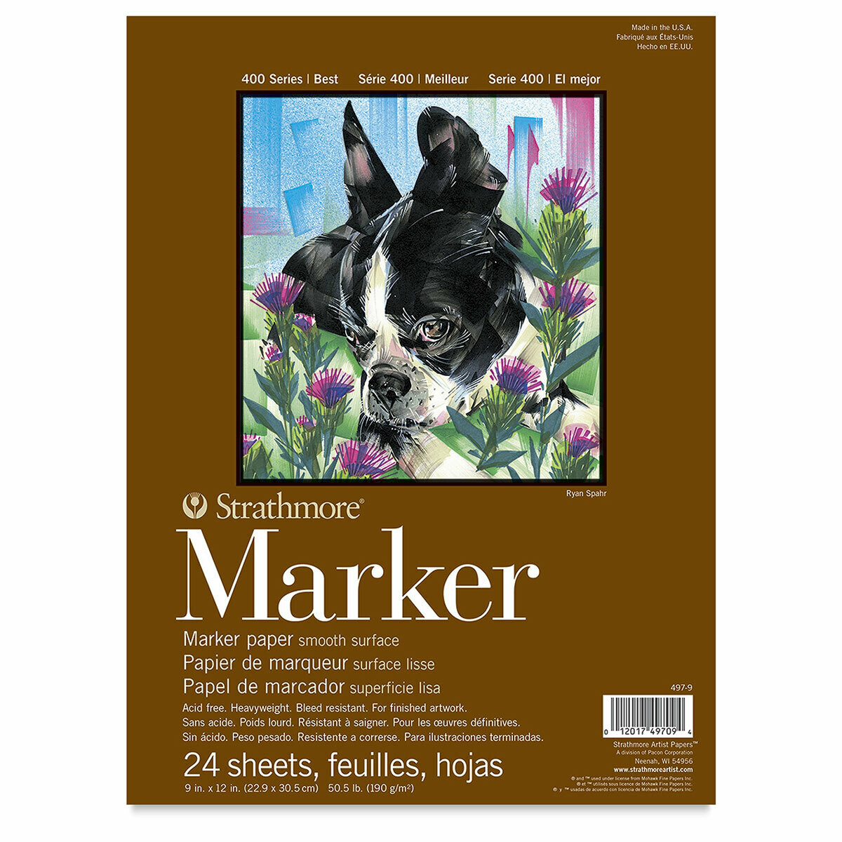 """STRATHMORE  Marker Pad 9""""x12"""" [EACH]"""