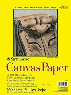 STRATHMORE  Pad Canvas Paper 9x12