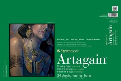 STRATHMORE  Pad Artagain Black Paper 12x18 [EACH]