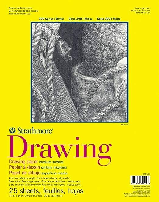 "STRATHMORE  Pad Drawing 11x14"" 25-sht 70lb [EACH]"