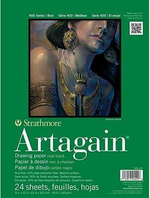 STRATHMORE  Pad Artagain Black Paper 9x12