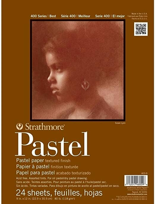 "STRATHMORE  Pad Pastel Assorted Colors 9x12"" 24-sh [EACH]"