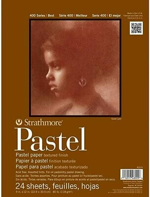 STRATHMORE  Pad Pastel Assorted Colors 9x12