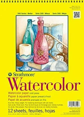 STRATHMORE  Pad Watercolor 9x12