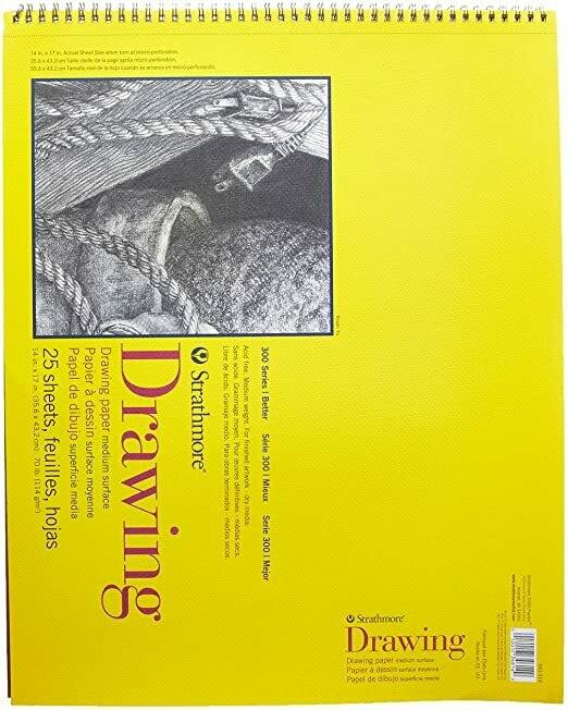 "STRATHMORE  Pad Drawing 14x17"" 25-sh 70# [EACH]"