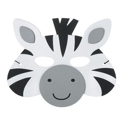 Foam Mask Zebra