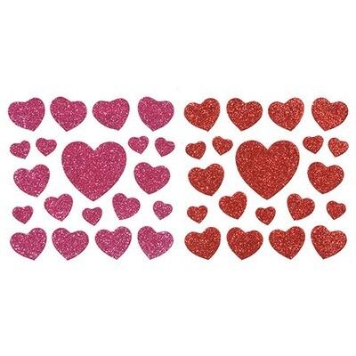 Foamy Glitter Hearts