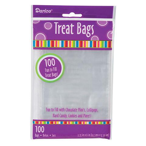 "Treat Bag Clear 3.75x6"""