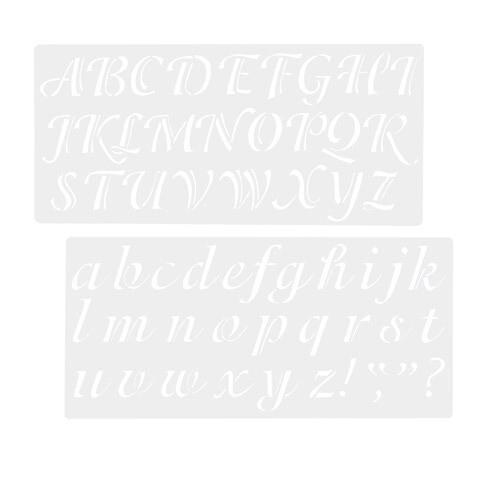 "Stencil Alpha Caligra 2"""