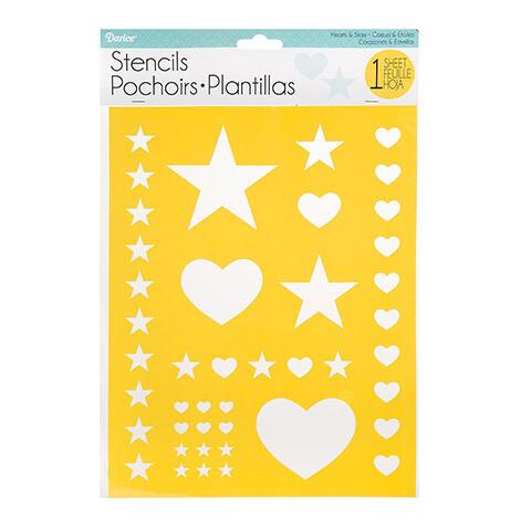 Stencil Heart & Stars