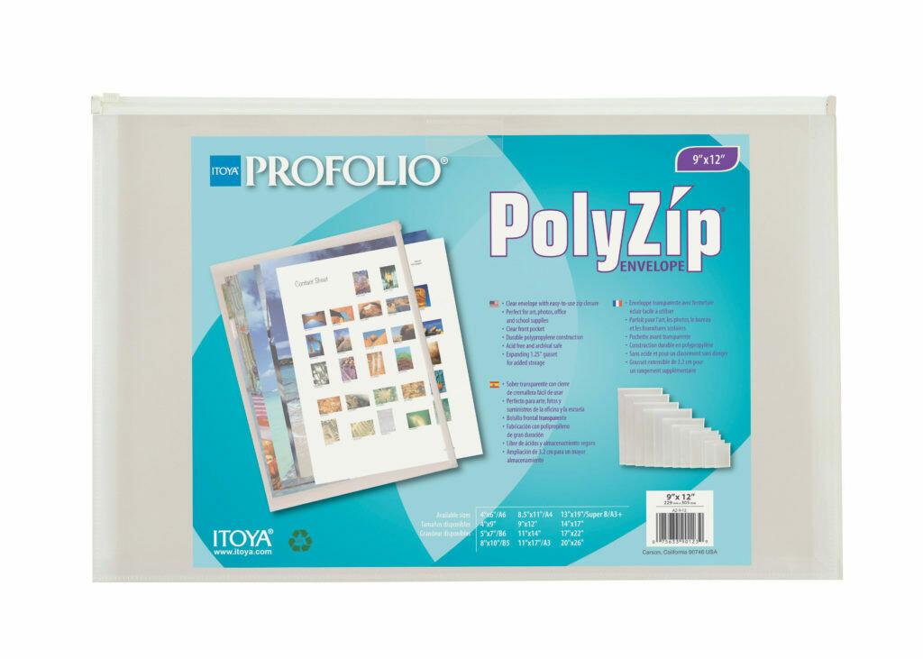 "Envelope Plastic PolyZip 9x12"""