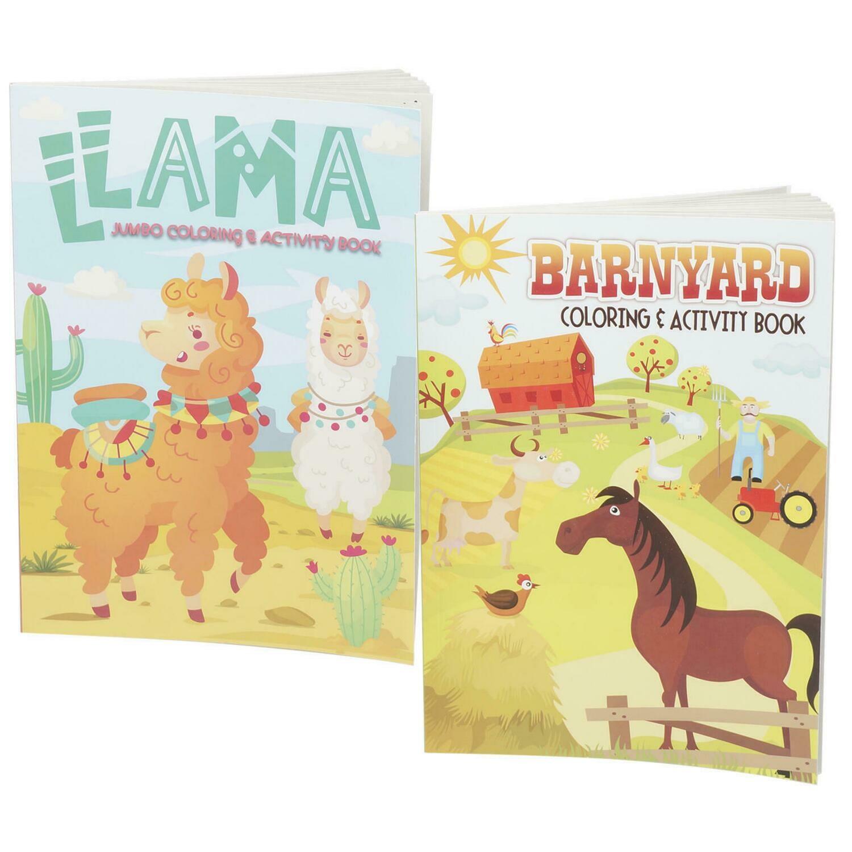 Coloring Book Llama & Barnyard