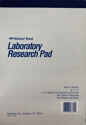 Laboratory Research Pad (50 sets) Carbonless
