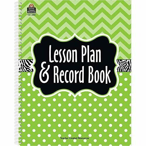 Lesson Plan & Record Book- Lime chevron- Roll Book