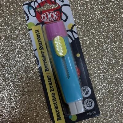 Quick Eraser Retactable Pen Triangular