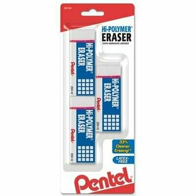 Erasers Hi-Polymer Pentel [pk-3]