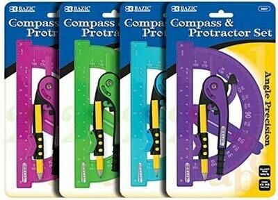 Compass & Protactor Set
