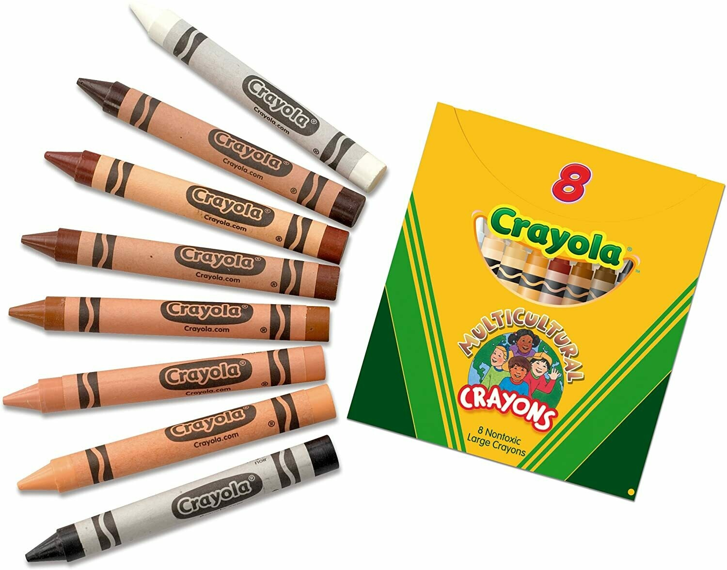 Crayons Multicultural Large (st-8)