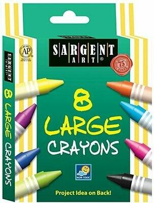Sargent Crayons Large (pk-8)