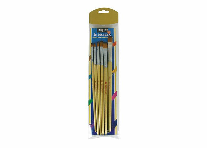 Brushes Golden Taklon (pk-6)