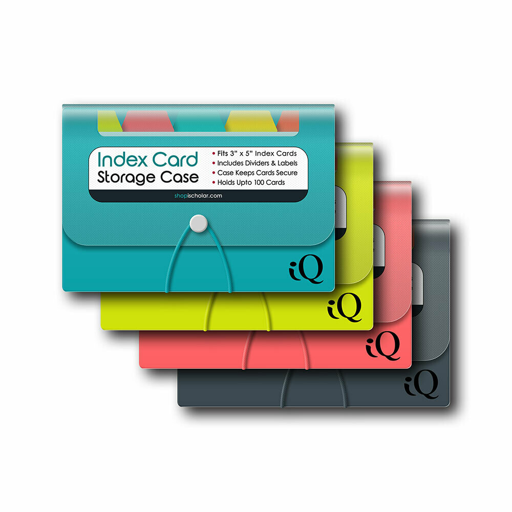 Index Card Case w/ Poly Dividers