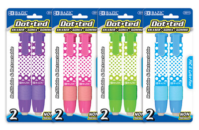 Eraser RT Stick Dotted [2/pk]