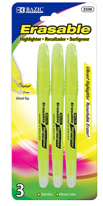 Highlighter Erasable Yellow