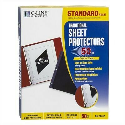 Sheet Protectors Black [bx-50]