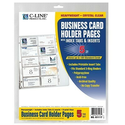 Business Card Holder Pages