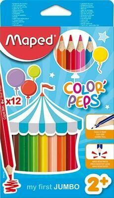 Color Pencil Jumbo Triangular (pk-12)