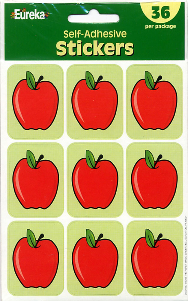 Stickers Self-Adhesive Apple [pk-36]
